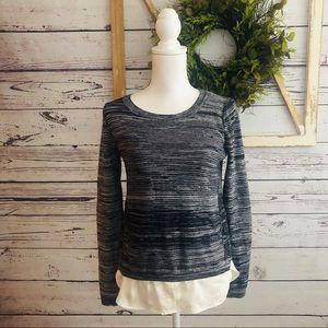 Loft • Crewneck Silk Hem Sweater